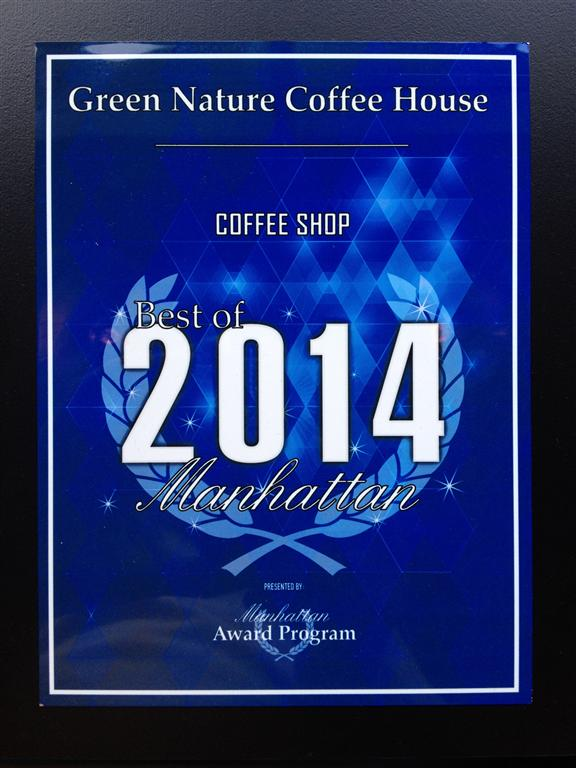 2014 Best coffee shop award (Medium)